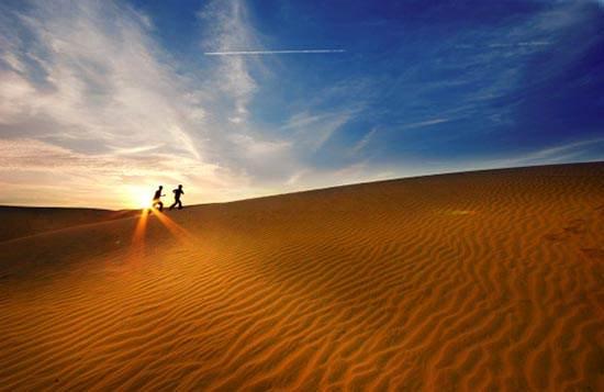 Hasil gambar untuk sunset padang pasir